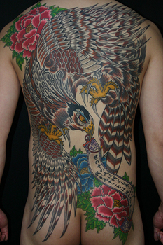 鷹と牡丹.JPG